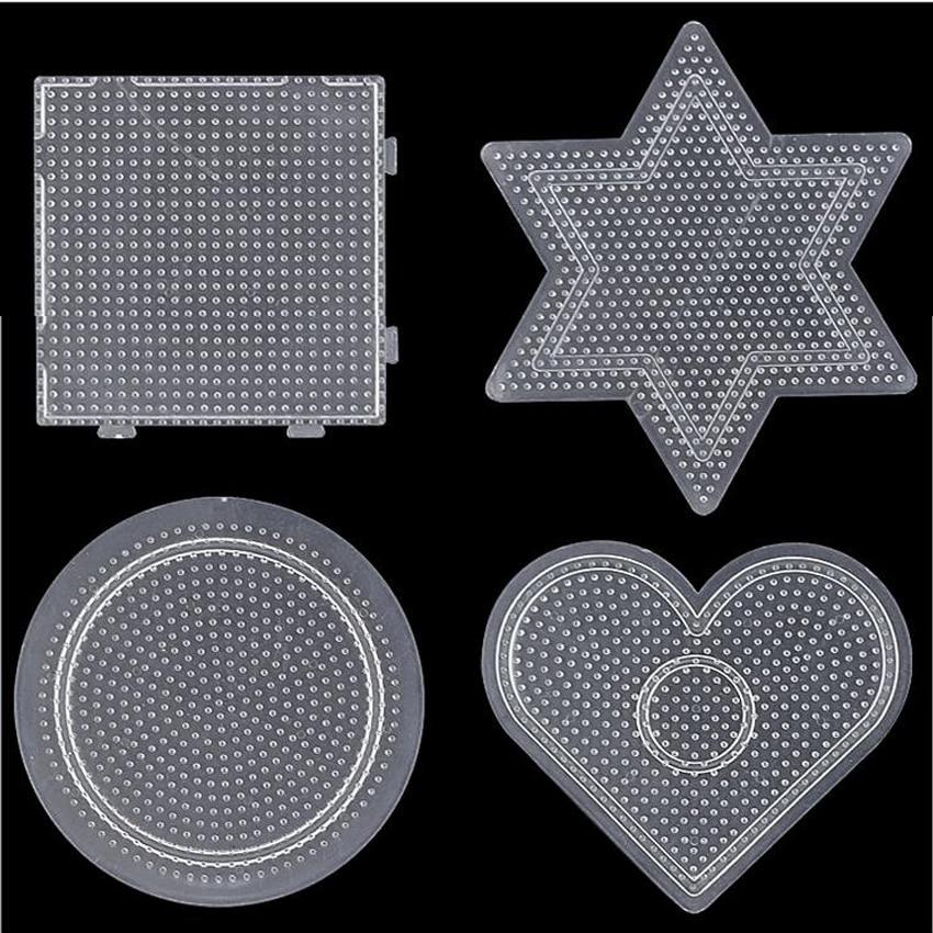 DOLLRYGA 2.6mm Hama Beads Pegboard Template Board Tool Circular Square Educational DIY Figure Material Board Perler Beads Lote