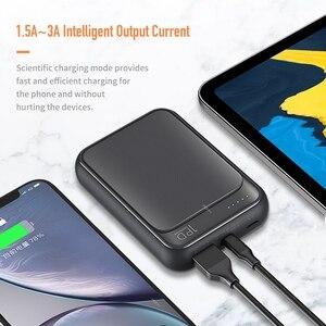 Image 3 - 18W PD QC 3.0 10000mah güç bankası ROCK Mini LED harici pil USB PD hızlı için hızlı şarj Powerbank iPhone Xiaomi Samsung