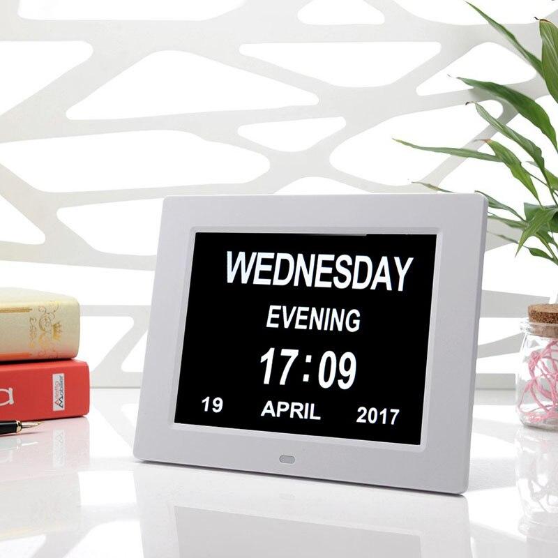 Calendario Digitale Per Anziani.Us 50 16 20 Di Sconto Led Calendario Digitale Sveglia 8 Pollice Grande Schermo Facile Visualizzazione Per Gli Anziani Visualizza Data E La Settimana