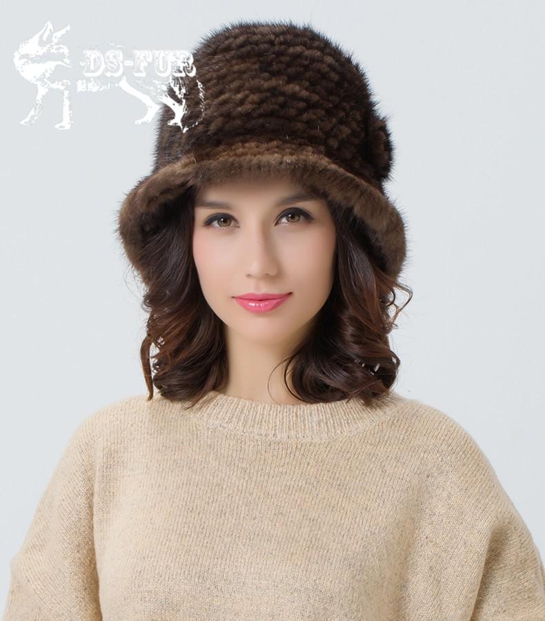 Weave real mink fur hat05