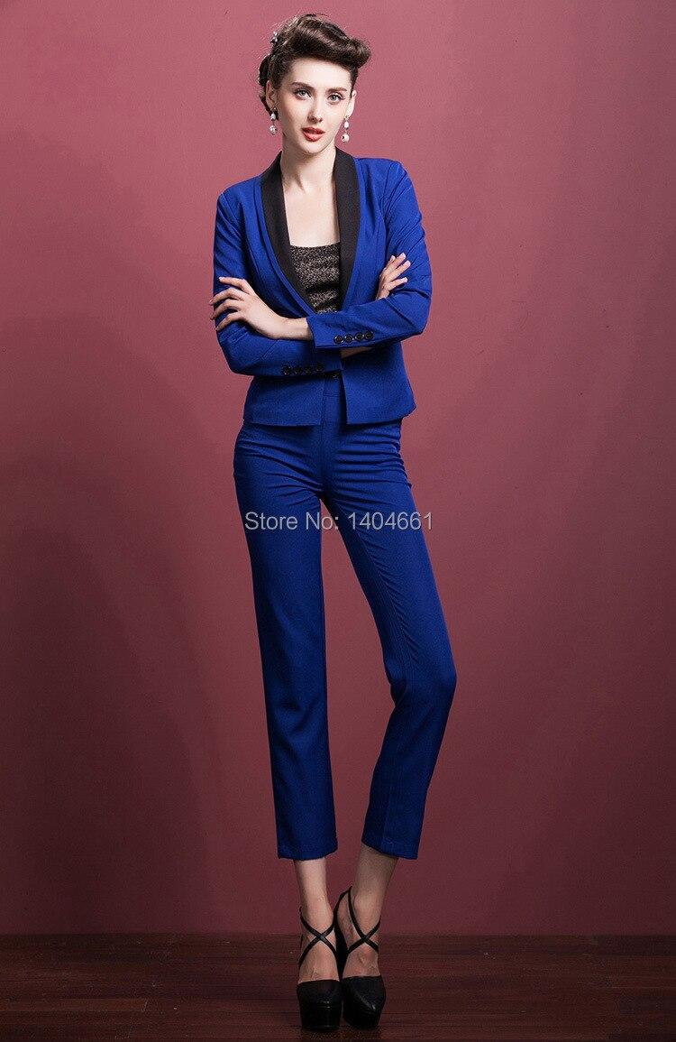Royal Blue Suit Trousers - Hardon Clothes