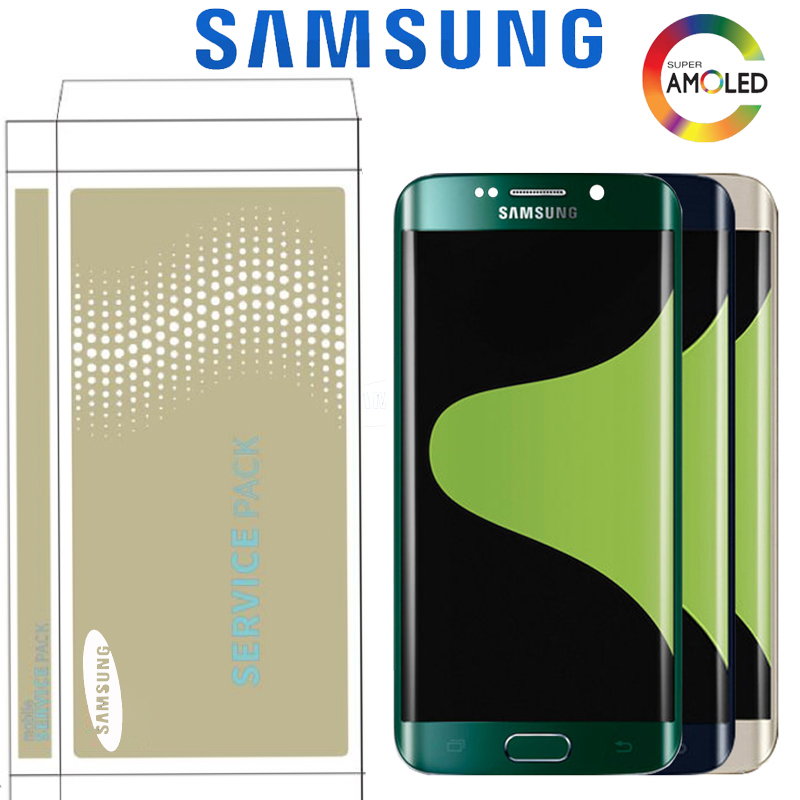 5.1'' Burn-Shadow Display For SAMSUNG Galaxy S6 Edge LCD G925 G925I G925F Touch Screen Digitizer With Frame With Service Pack