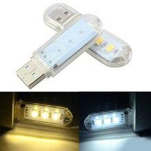 1 шт. Мини Портативный USB светодиодный светильник для книг 3 светодиодный s DC 5 В для ПК ноутбуков компьютеров ноутбуков power Bank Кемпинг лампа для чтения