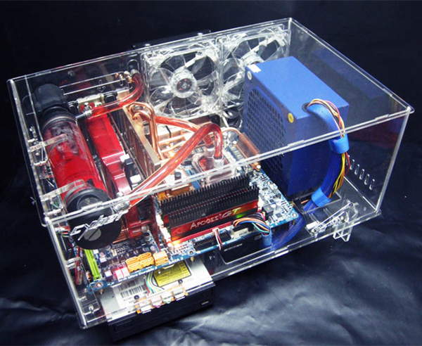 цена DIY transparent acrylic water cooling cooled main chassis Computer Cases & Towers housing Components kit set