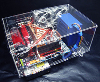 DIY transparent acrylic water cooling cooled main chassis Computer Cases & Towers housing Components kit set