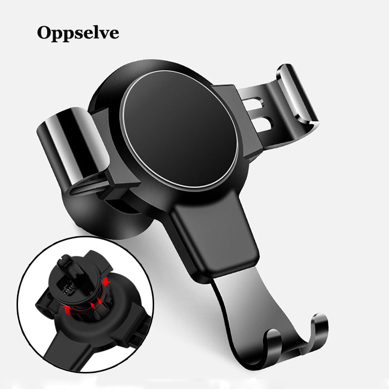Oppselve Car Phone Holder For iPhone X S Gravity Air Vent Mount in Mobile Stand Samsung S9