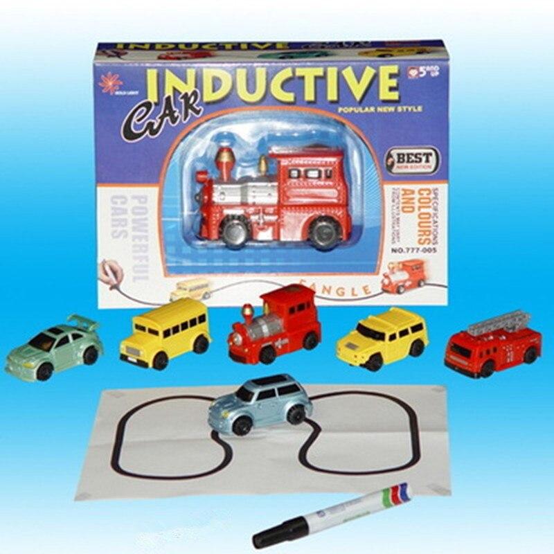 1 pcs Mini Magic Pen Indutivo Brinquedo Modelo de Carro Quebra Série Seguir Qualquer Linha Que Você Desenhar Brinquedos Para As Crianças Meninos presente de Aniversário para crianças