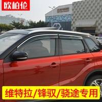 High quality Abs Sunny Rain Special Modified Window Weather Rain Eyebrow For Suzuki Vitara 2015 2016 2017 2018 Car styling