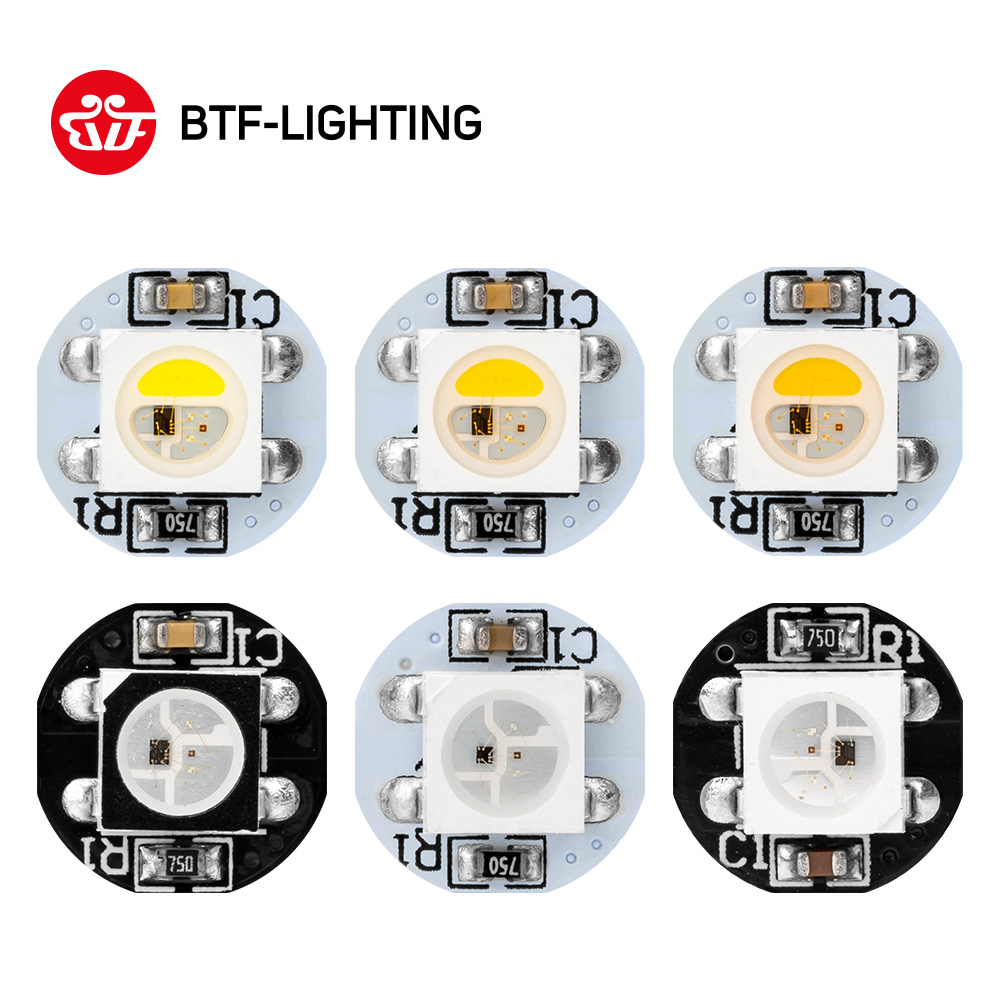 <font><b>10</b></font>-200pcs ws2812b LED chip <font><b>4pin</b></font> With Heatsink (10mm*3mm) Black/White PCB DC5V SMD5050 RGB with WS2811 IC bult in SK6812RGBW image