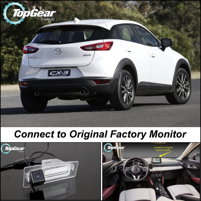 Car Camera Connect to Original Factory Screen / Monitor For Mazda CX3 CX-3 CX 3 High Quality Rear View Back Up Camera for mazda cx 3 cx 3 cx3 2014 2015 smart tracks chip camera hd ccd intelligent dynamic parking car rear view camera