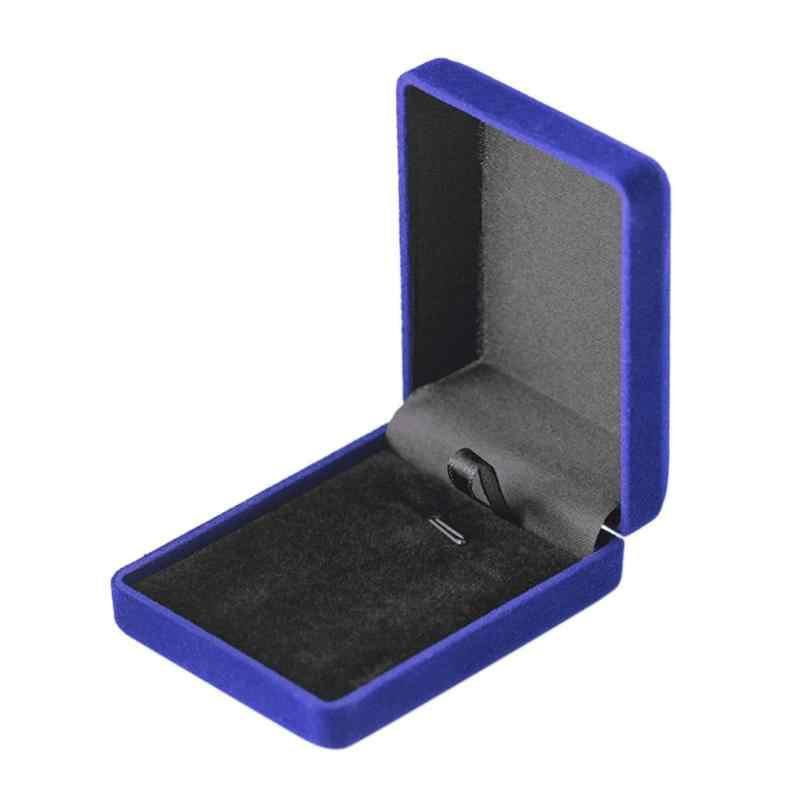Creative אירוסין שחור קטיפה טבעת תיבת תכשיטי תצוגת אחסון מתקפל מקרה עבור טבעת נישואים יום מתנה ארגונית