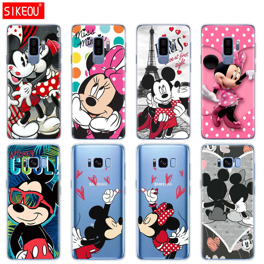 silicone case for Samsung Galaxy S9 S8 S7 S6 edge S5 S4 S3 PLUS phone cover cartoon mouse Mickey Minnie