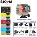Sj5000x 4 k elite original sjcam wifi esporte action camera + 2 baterias extras + selfie vara + muitos acessórios + saco de armazenamento + carregador de carro