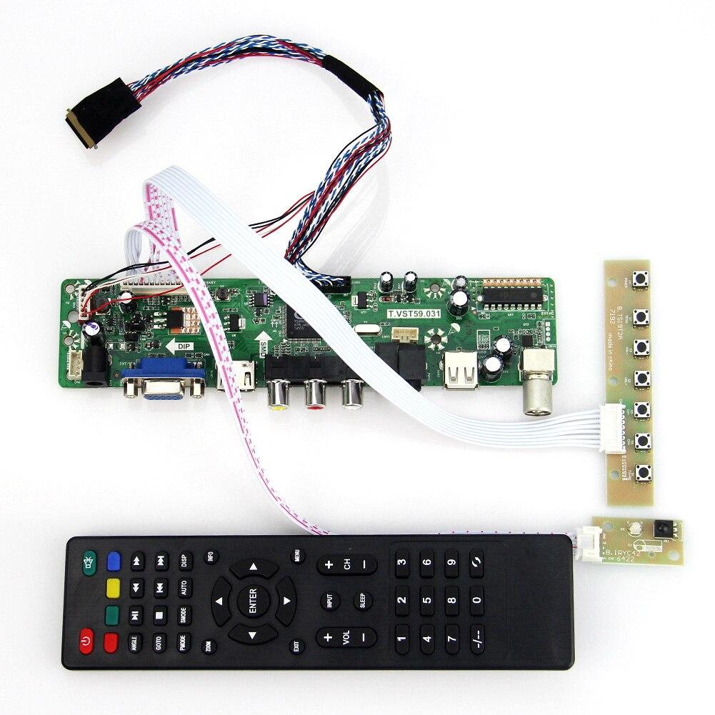 LCD/LED Controller Driver Board (TV+HDMI+VGA+CVBS+USB) T.VST59.03 For B089AW01 V.1  LVDS Reuse Laptop 1024x600