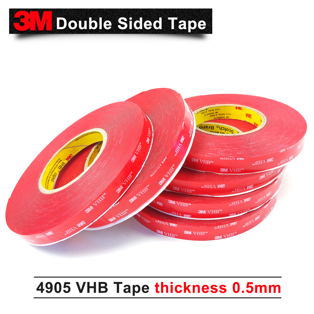 25MM*33M/5Rolls 3M 4905 VHB Tape Double sided High Quality double sided acrylic adhesive clear vhb tape 0.5mm thick25MM*33M/5Rolls 3M 4905 VHB Tape Double sided High Quality double sided acrylic adhesive clear vhb tape 0.5mm thick