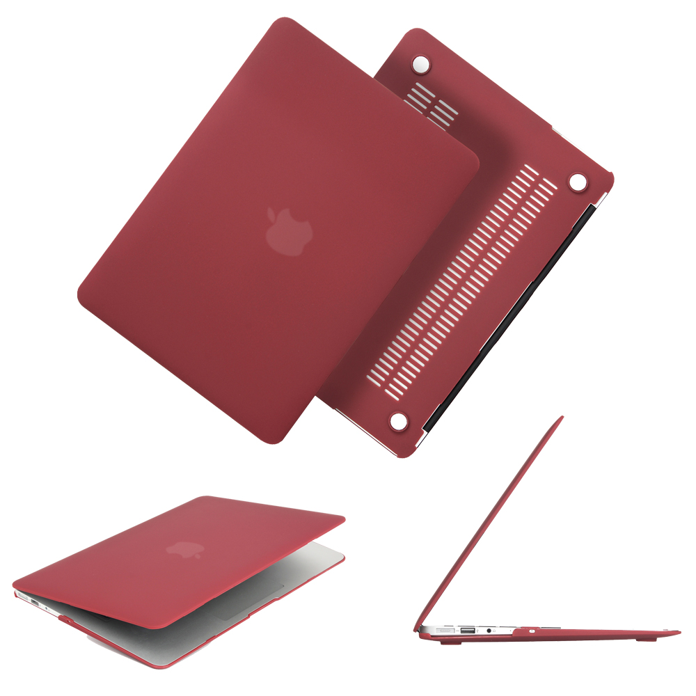Newest Wine Red Color Matte Case For Macbook Air Pro Retina 11 12 13 133