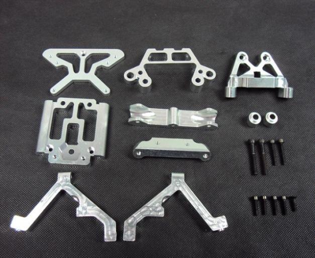 1/5 Baja Alloy Front Bulk Head set for 1/5 scale HPI KM RV baja 5B 5T 5SC - 85051 BAJA PARTS RC PARTS front alloy arm set for baja parts 1 set 85113 baja front alloy for 1 5 rc car hpi rovan km baja upgrade parts