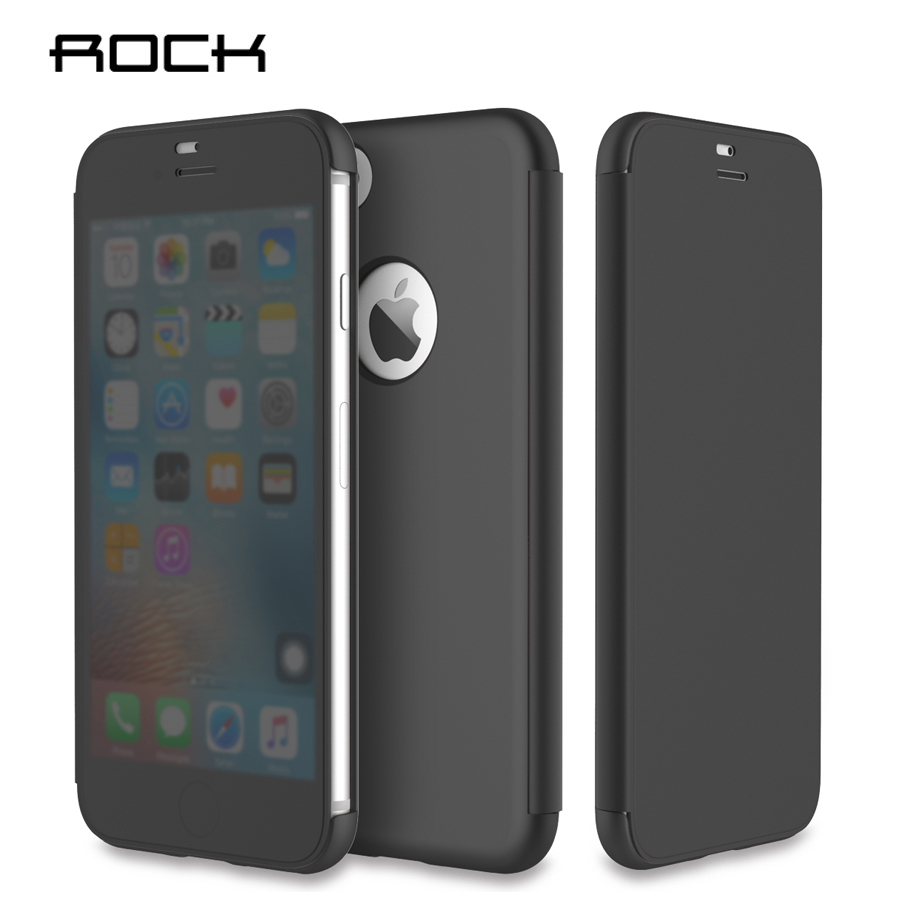 Θήκη για iPhone 7 iPhone 7 Plus Θήκη Rock Dr.V Προβολή πλήρων Windows Θήκες Smart Flip Cover για Apple iPhone 7 Plus Phone Capa