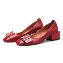 Zapatos mujer 2017 Schuhe Frau Leder high heels Damen Schuhe hohe Qualität Schuhe Für Frauen Top Gelegenheitsarbeit Müßiggänger-schuhe z420