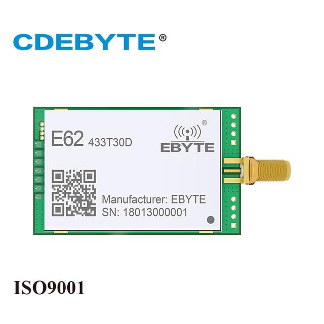 E62 433T30D Song Công UART 433 Mhz 1W SMA IOT UHF 30dBm Thu Phát Không Dây Thu Phát RF Mô Đun