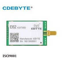 E62 433T30D completo duplex uart 433mhz 1 w sma antena iot uhf 30dbm sem fio transceptor transmissor receptor módulo rf