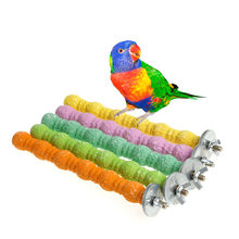 16CM Bird Toys Clib Chew Parrot Grinding Stand Perches Cage Cockatiel Parakeet -Y102(China)