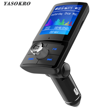 YASOKRO Color Screen FM Transmitter Wireless Car MP3 Audio Bluetooth Ha