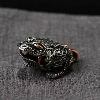 FNJ 925 Silver Toad Pendant Animal Hang Pure Original S925 Thai Silver Pendants Women for Jewelry Making