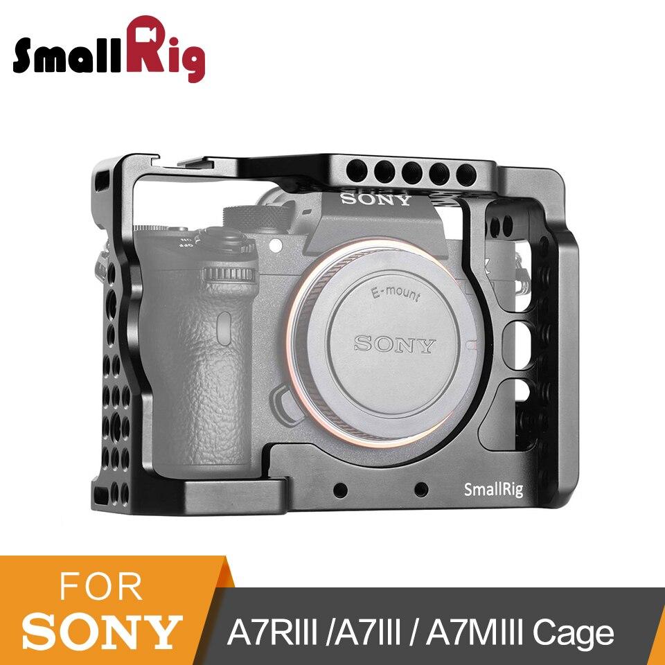 Cage small rig a7iii a7r3 a7m3 pour Sony A7RIII/A7III/A7MIII Cage en alliage d'aluminium à monter Kit d'extension à dégagement rapide pour trépied-2087