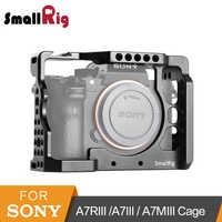 SmallRig a7iii a7r3 a7m3 klatka dla Sony A7RIII/A7III/A7MIII klatka ze stopu aluminium do montażu statywu zestaw do przedłużania rzęs-2087