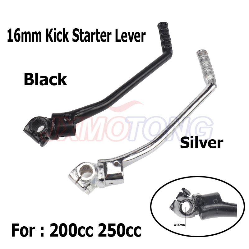 Motorcycle dirt pit <font><b>parts</b></font> 16mm Kick Starter Lever Start For <font><b>Lifan</b></font> YX <font><b>Lifan</b></font> YX Pit Dirt Bike CB/CG 200cc <font><b>250cc</b></font> image