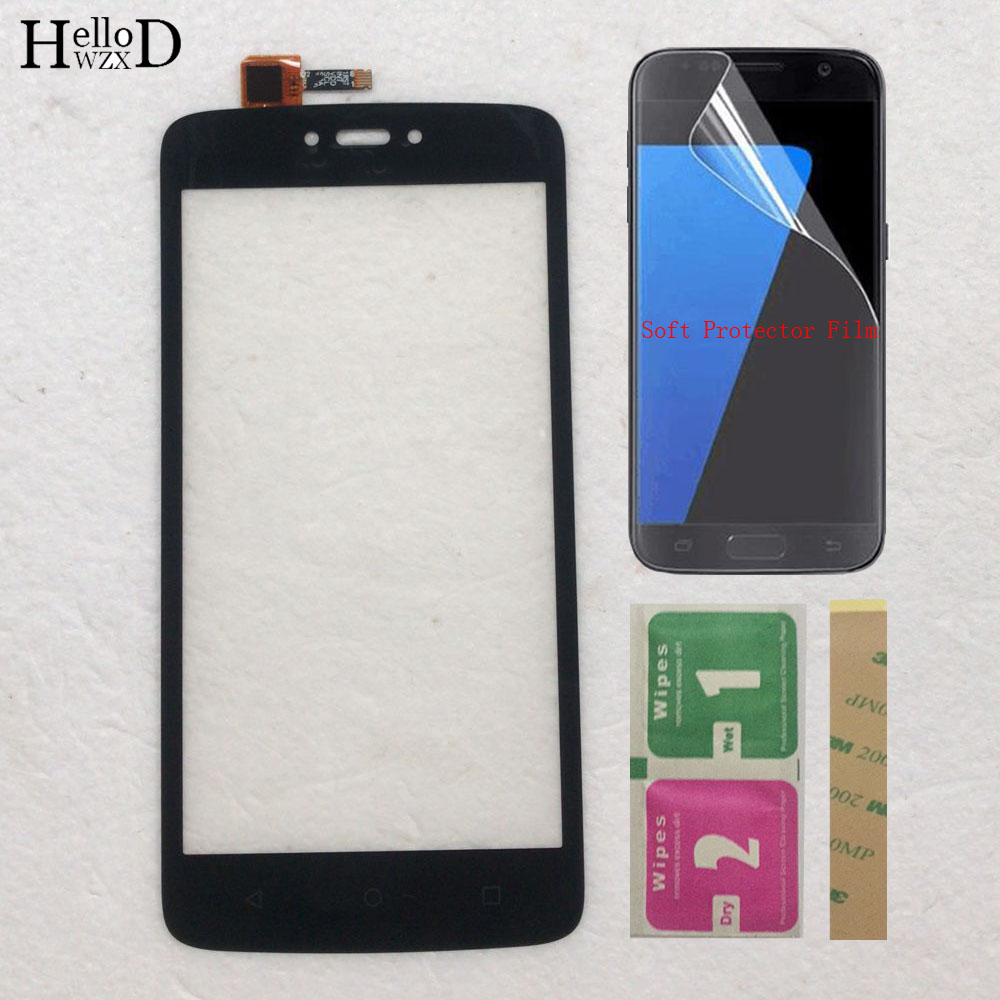 "5.0"" Touch Screen Panel For Motorola Moto C XT1750 XT1755 XT1754 Touch Screen Digitizer Panel Sensor Mobile Phone 3M Glue Wipes"