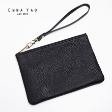EMMAYAO fashion leather wallet female long zipper wallet famous brand coin purses holders