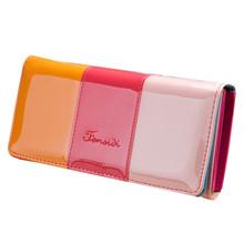 Women's Zipper Leather Borsellini Donna Wallet Women Wallets Purse Cell phone Card Holder Long Lady Wallet Purse Cluch