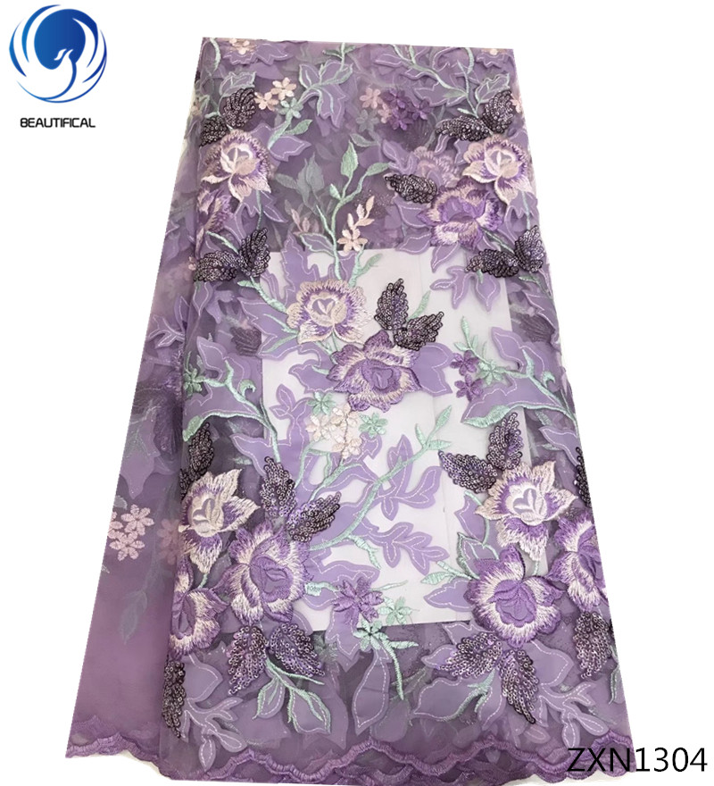 BEAUTIFICAl purple sequins lace fabric african french net tulle lace fabric for party dresses Hot selling mesh 5yards/lot ZXN13BEAUTIFICAl purple sequins lace fabric african french net tulle lace fabric for party dresses Hot selling mesh 5yards/lot ZXN13