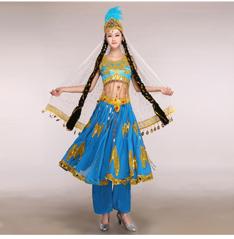 Ancient Chinese Costume Disfraces Hmong Clothes New Xinjiang Turpan Minority Dance Costumes Chinese Folk Wear Ethnic Uighur