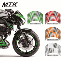 MTKRACING Motorcycle FIT for kawasaki Z800 12 X Thick Edge Outer Rim Sticker Stripe Wheel Decals