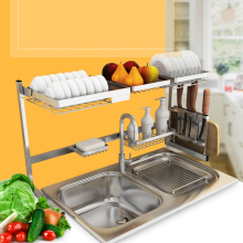 Multifunction Kitchen Storage Rack Shelf Stainless Steel DIY Hanging Racks Cross Tube Organizer Holder