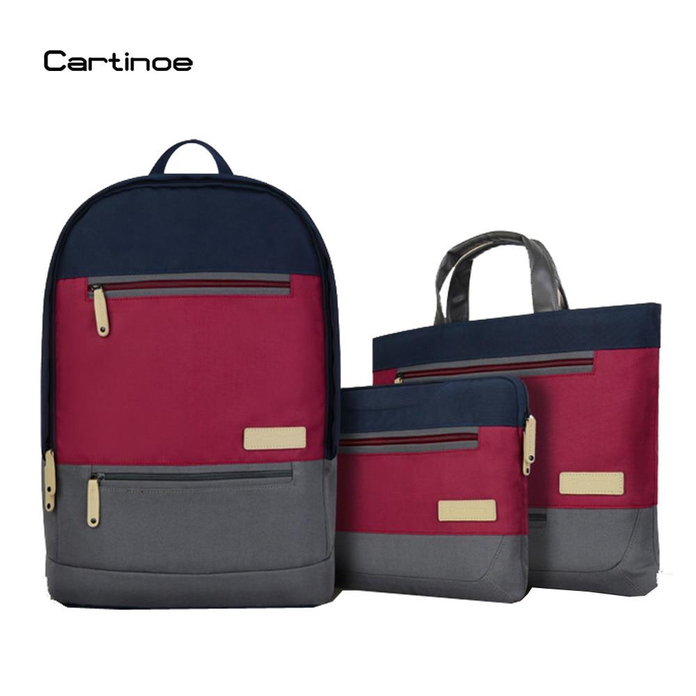 Cartinoe Fashion College Book Bag Laptop Bag 13 14 15 15.6 inch Backpacks Notebook Shoulder Messenger Bag Computer Sleeve Case