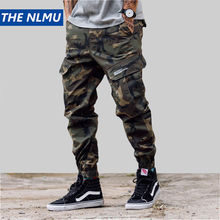 Hip Hip Streetwear Mens Camouflage Joggers Pants 2019 Men Women Cotton Cargo Pant Trousers Elastic Waist Harem Pant Men WJ184Cargo Pants