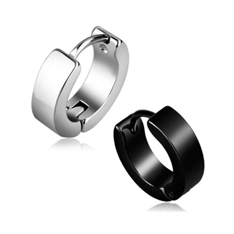 Anti-allergic titanium steel buckle tide Korean fashion stainless steel earring punk male and female buckle 4 Colors Girl gift