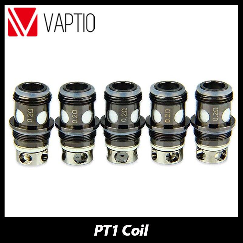 Original Vaptio PT1 Tank Atomizer Replacement Coil 0.2ohm Electronic Cigarette Head For Vaptio PT1 Tank Vaporizer Coil 5pcs/pack