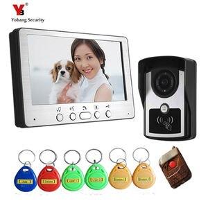 Видеодомофон Yobang, домофон, 7 дюймов, 1 камера, 1 монитор, ночное видение, проводной видеодомофон