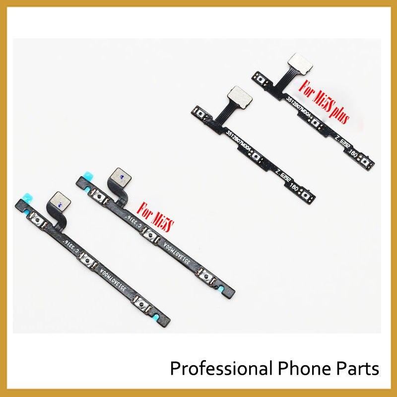 Original New Power Volume Flex Cable For Xiaomi Mi5S Mi 5S Plus Side Key Button Flex Cable Repair Parts