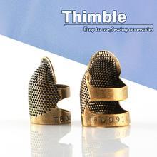 Two Sizes Sewing Thimble Finger Protector Vintage Needlework Metal Brass Handworking DIY Crafts Sewing Tools Accessories burdastyle sewing vintage modern