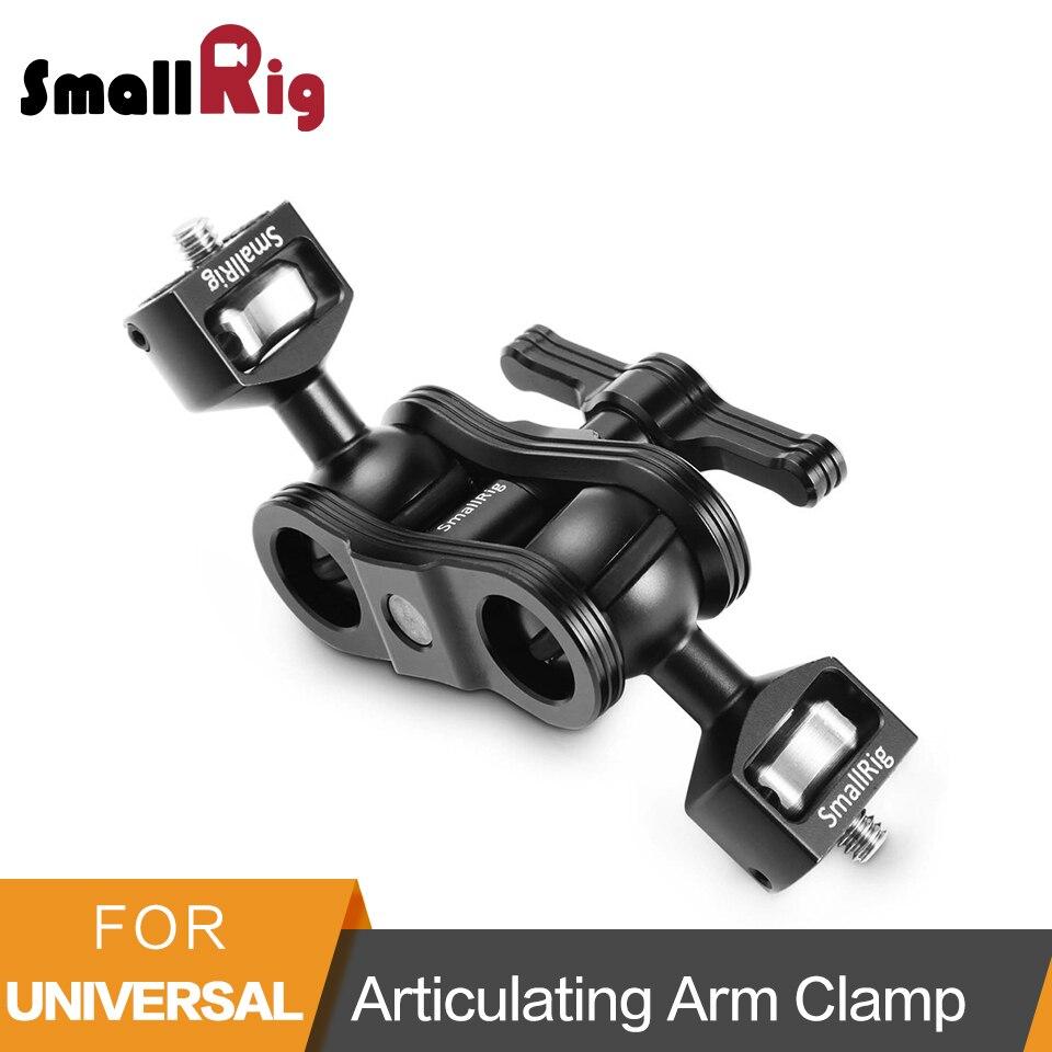 Petit bras magique articulé à dégagement rapide en alliage d'aluminium avec Double tête à billes + vis 1/4