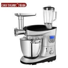 220V 7L Multifunctional LCD Electric Dough/Milk/Cake Mixer Milkshake Beater Eggs Food Blender Auto Heating Function