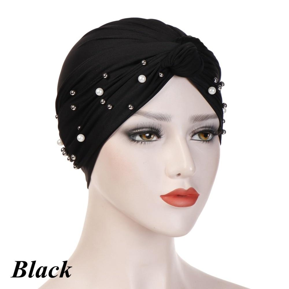 Headband-Indian-Muslim-Hijab-Islamic-Jersey-Beads-Cap-Stretchy-Pleated-Women-Turban-Hat-Knot-Head-Wrap(5)