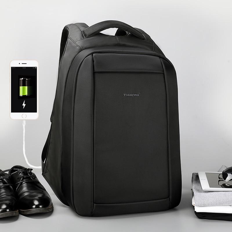 Tigernu Новое поступление Anti Theft USB зарядка школьная сумка 15,6 дюймов сопротивление воды Бизнес ноутбук рюкзак Mochila для мужской/женский