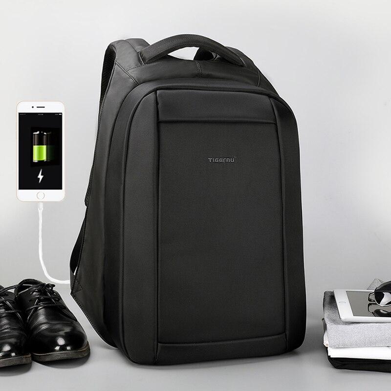 Tigernu Новое поступление Anti Theft USB зарядка школьная сумка 15,6 дюймов сопротивление воды бизнес ноутбук рюкзак Mochila для мужчин/женский